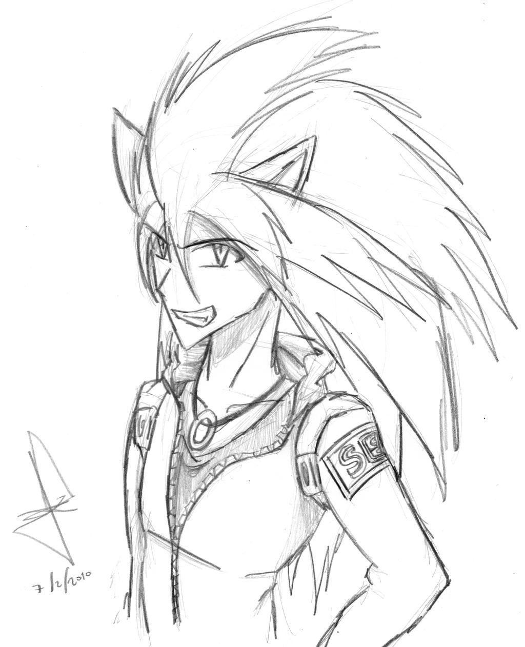 Human Sketch Sonic human sketch by idolnya