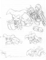 ImpmonxGatomon sketch by idolnya