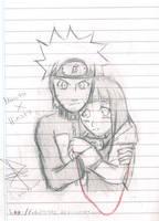 NarutoxHinata sketch by idolnya