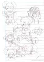Giroro andNatsumi child doodle by idolnya