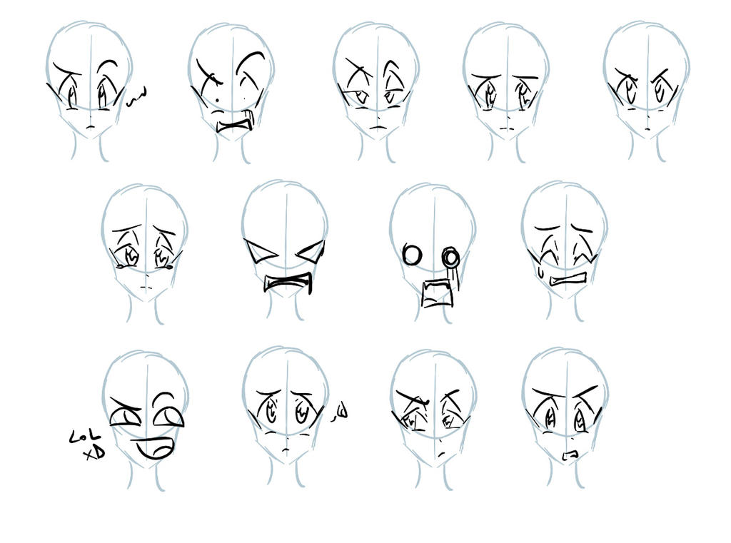 how to quickly draw expressions