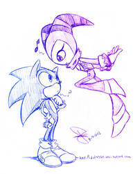 Sonic and Nights doodle