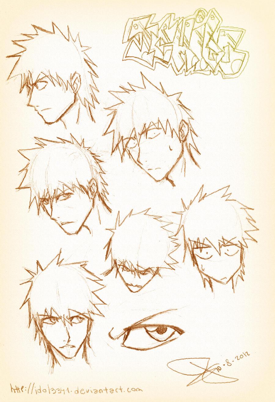 Ichigo sketch by idolnya