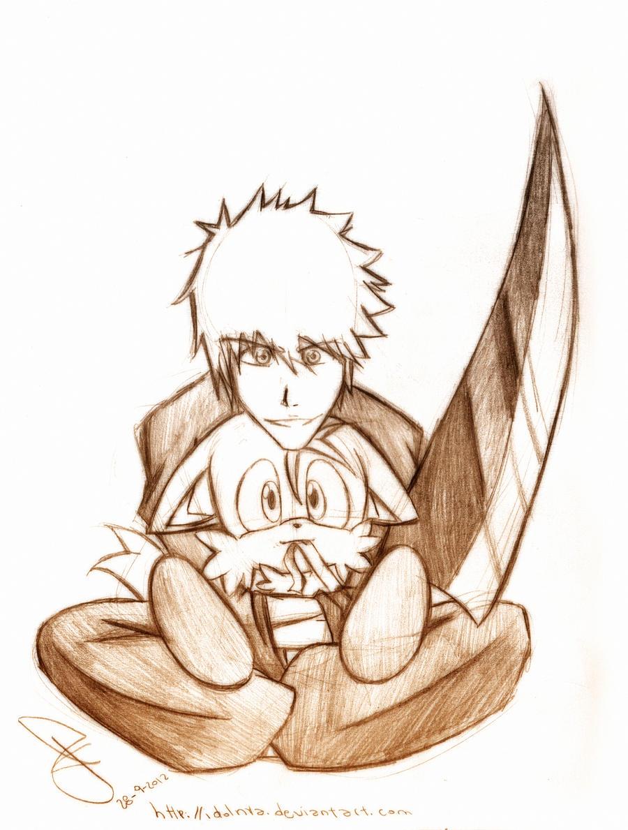 Ichigo and Tails x3 by idolnya