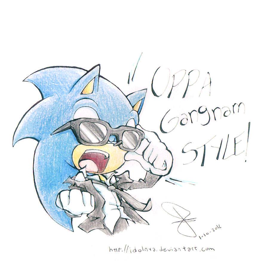 Sonic Oppa gangnam style by idolnya