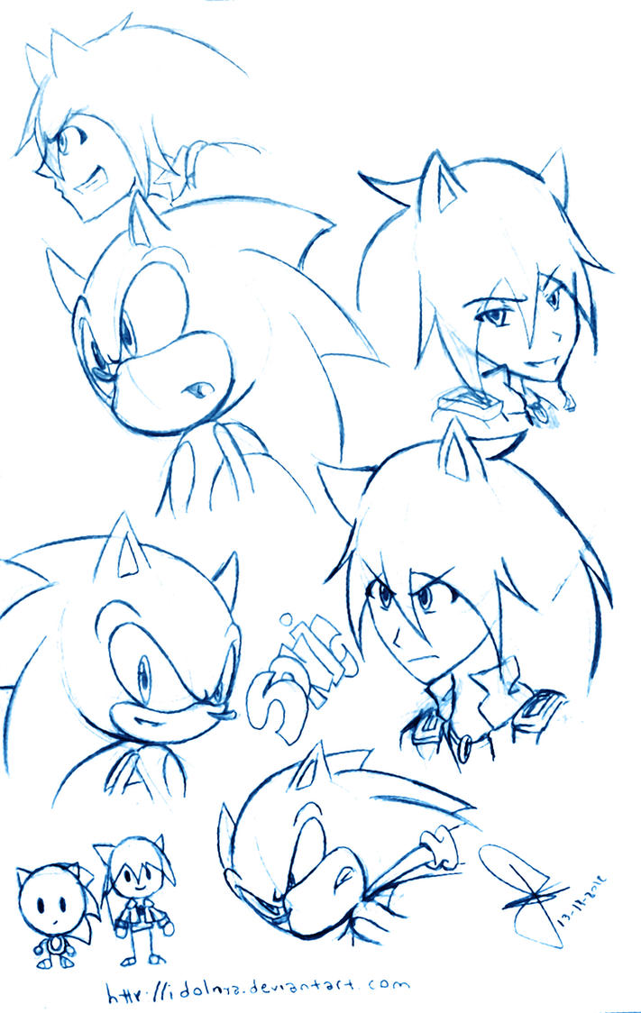 Sonic doodle by idolnya