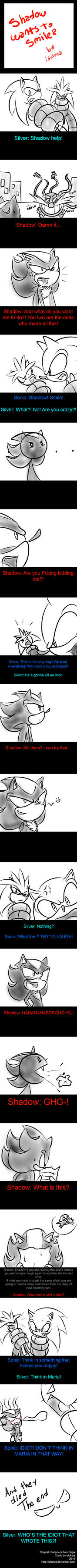 Shadow Wants To Smile? by idolnya
