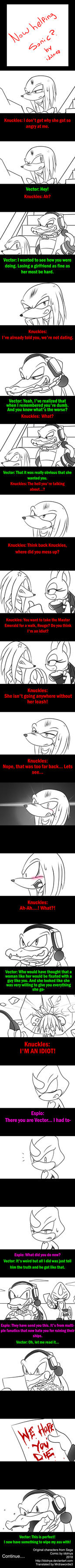 Now helping Sonic Part 1 by idolnya