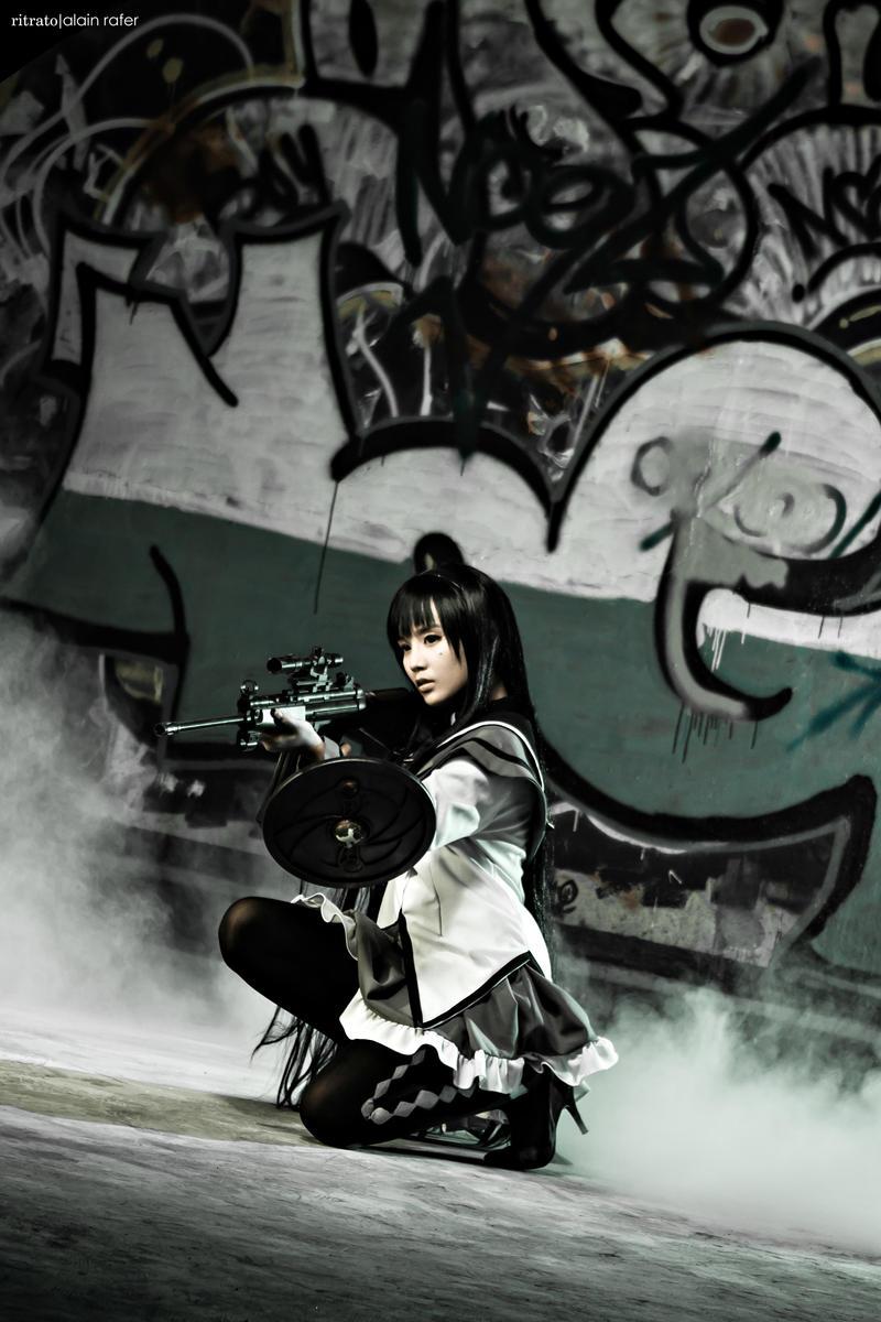 Puella Magi Madoka Magica - Akemi Homura by alainbrian