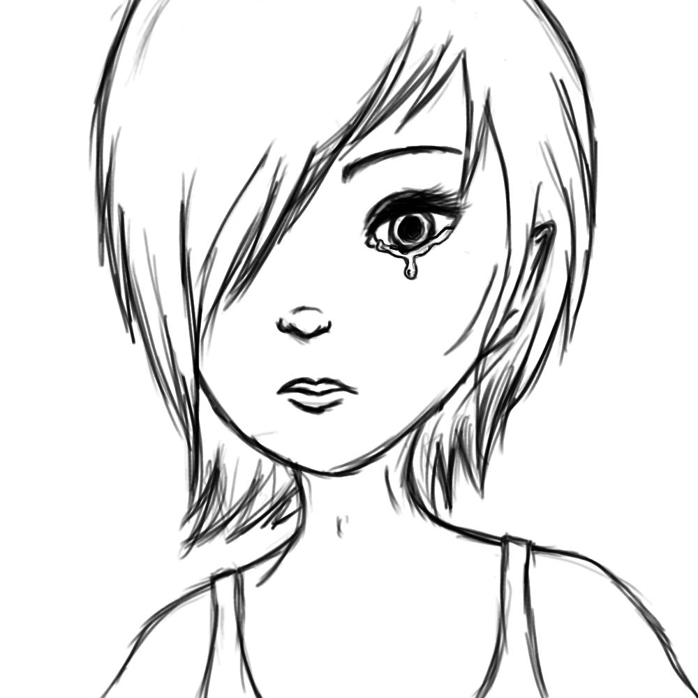 Crying eyes lineart by xmalicedisastersx on deviantart for Easy sketches of people