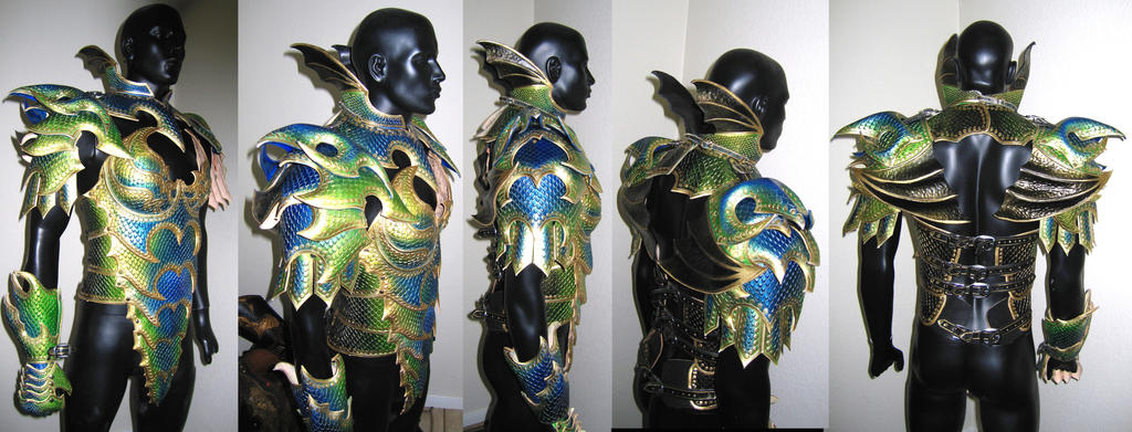 Dragon Armor - More Progress by Azmal