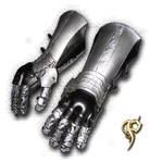 Black and Silver Gauntlets
