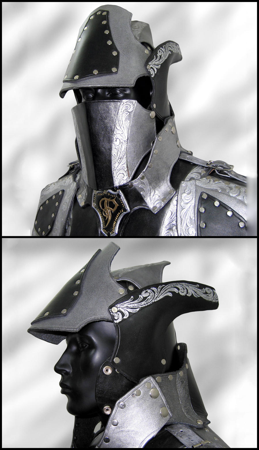 Black and Silver Armor- Helmet by Azmal