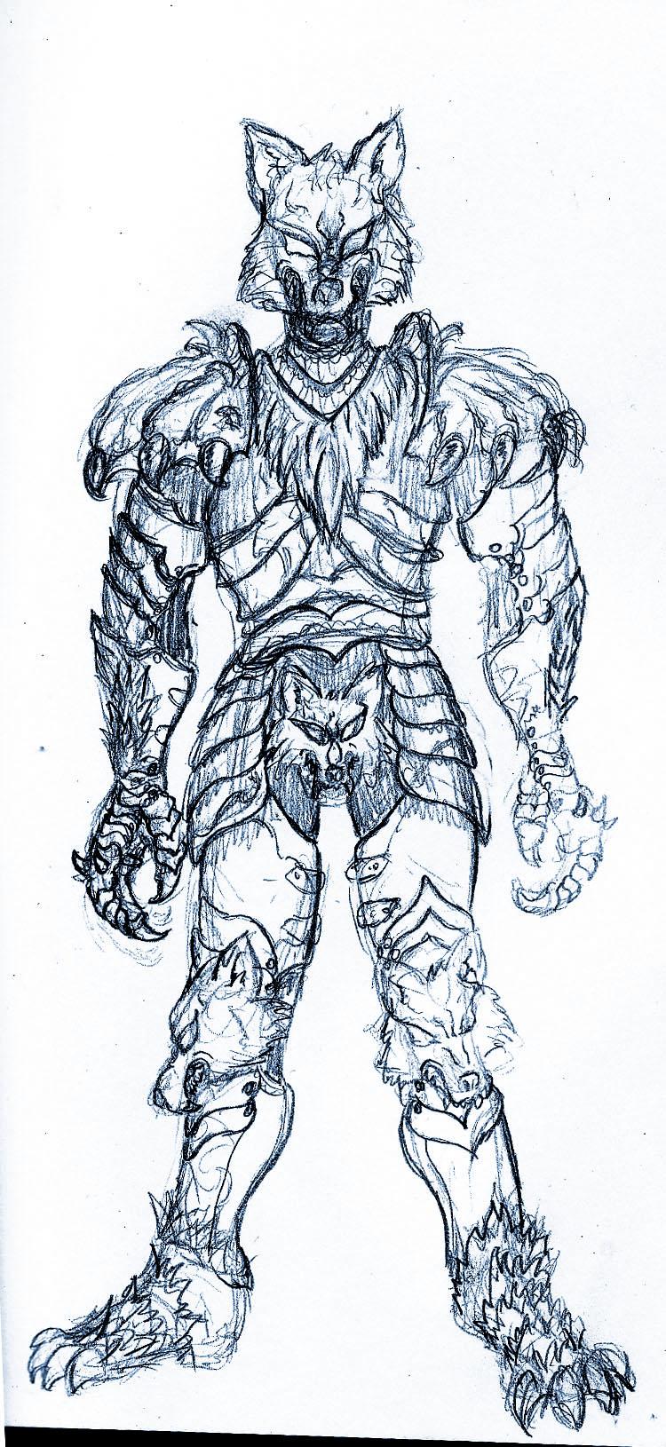 NPC: Ulysses and Dante, the servants of Samhain Wolf_Apocalypse_Armor_by_Azmal