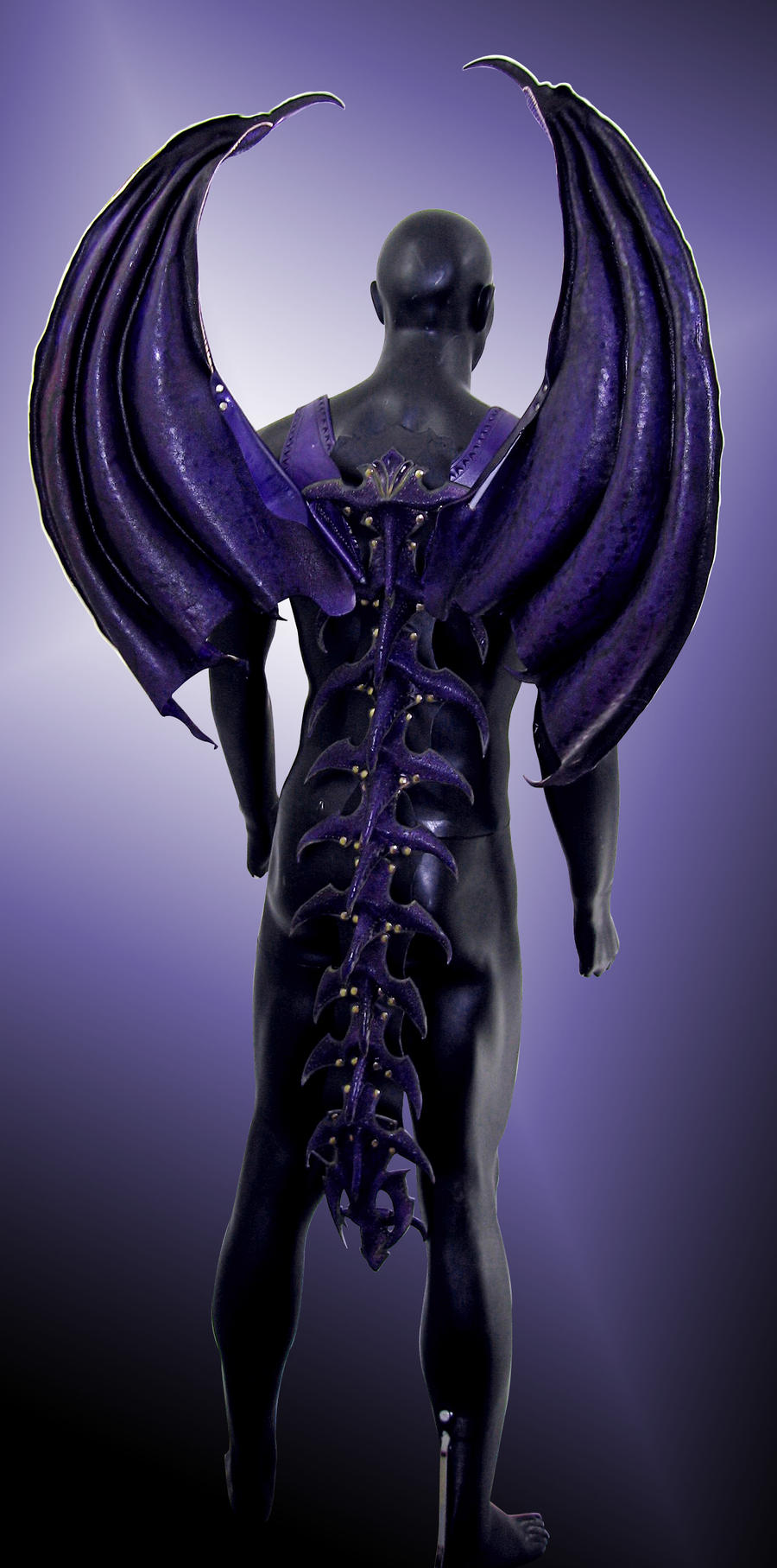 Leather Dragon Wings - Back by Azmal