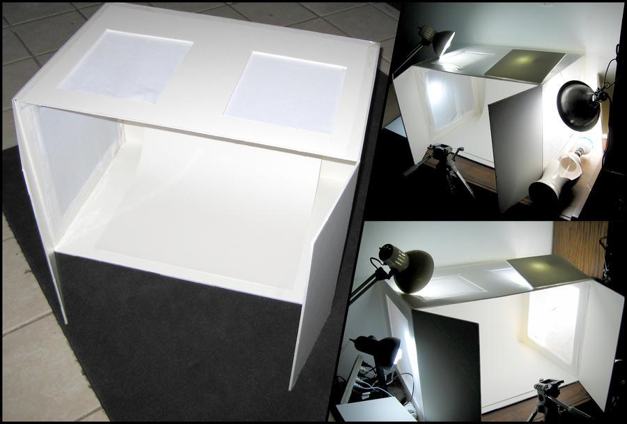 diy photo light box setup by azmal on deviantart. Black Bedroom Furniture Sets. Home Design Ideas