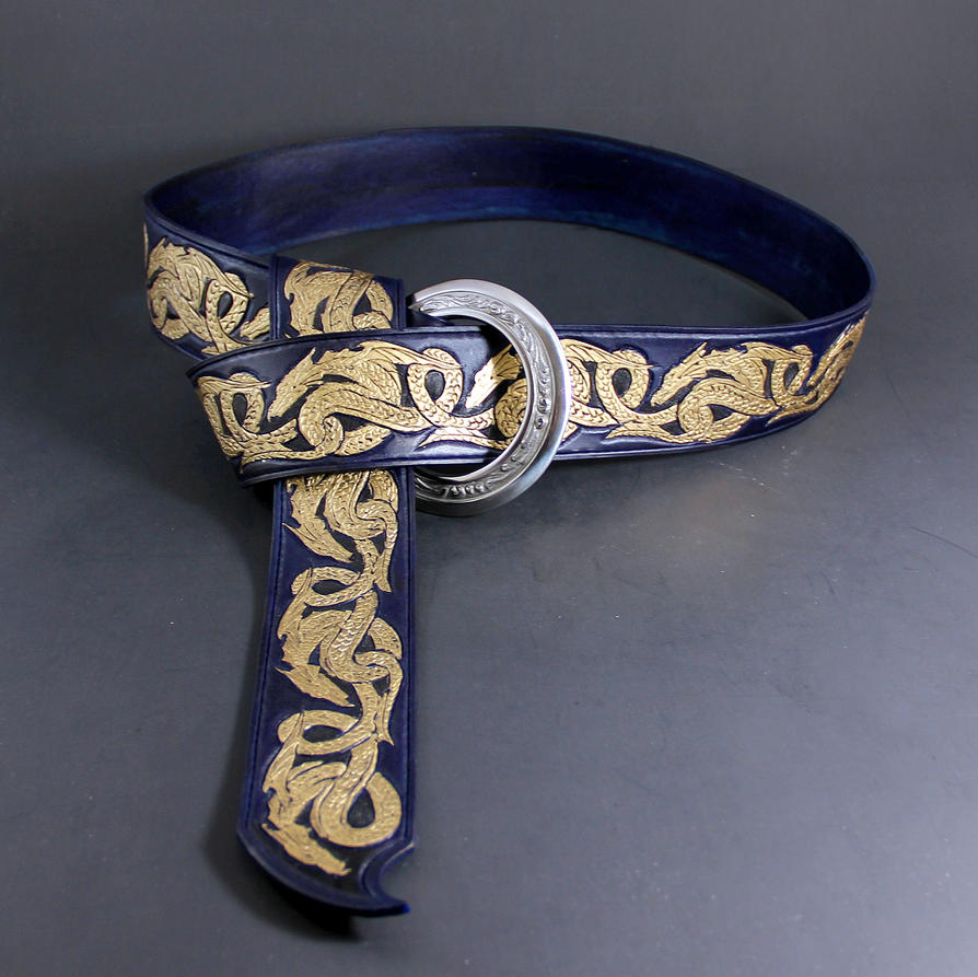 Tooled Dragon Rin Belt by Azmal