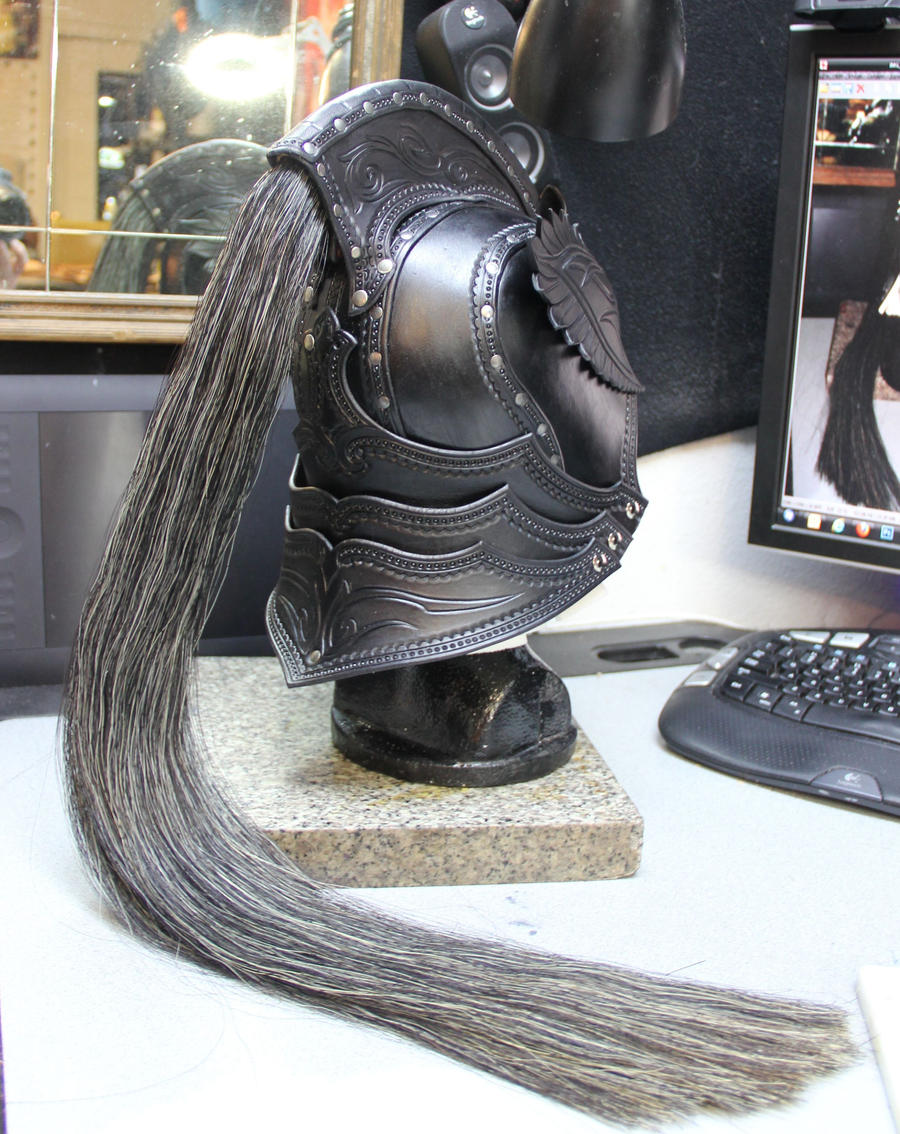 Elven knight helm preview back view by Azmal