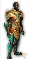Leather Medieval Aquaman Armor Full View
