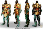 Medieval Aquaman Leather Armor Compiled View