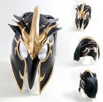 Tyrant Swain League of Legends Leather Helmet by Azmal