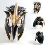 Tyrant Swain League of Legends Leather Helmet