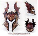 Flame Armor Leather Helmet Compiled