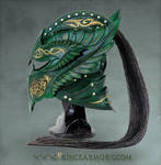 Green Elven Knight Helmet