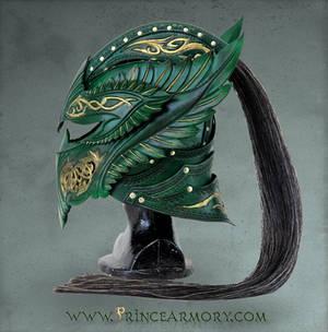 Green Elven Knight Helmet