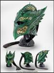 Green Elven Knight Helmet Compiled