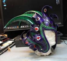 Medieval Joker WIP 2 Leather Helmet by Azmal