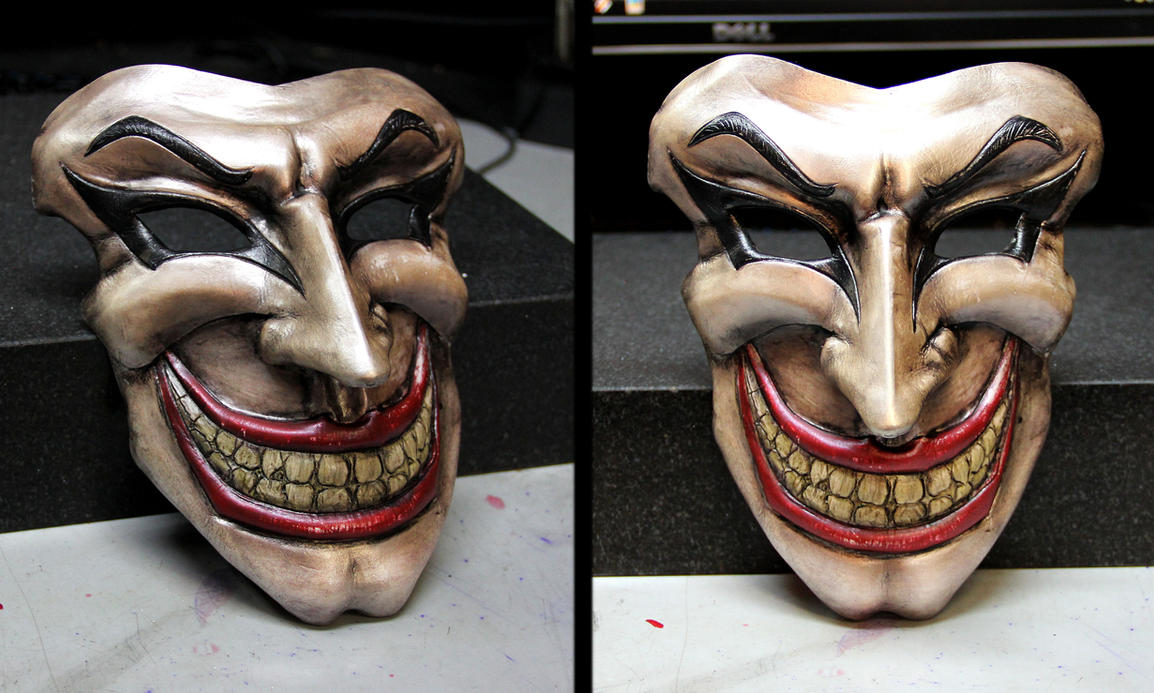 Medieval Joker WIP 3 Leather Mask by Azmal