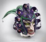 Medieval Joker Leather Helmet