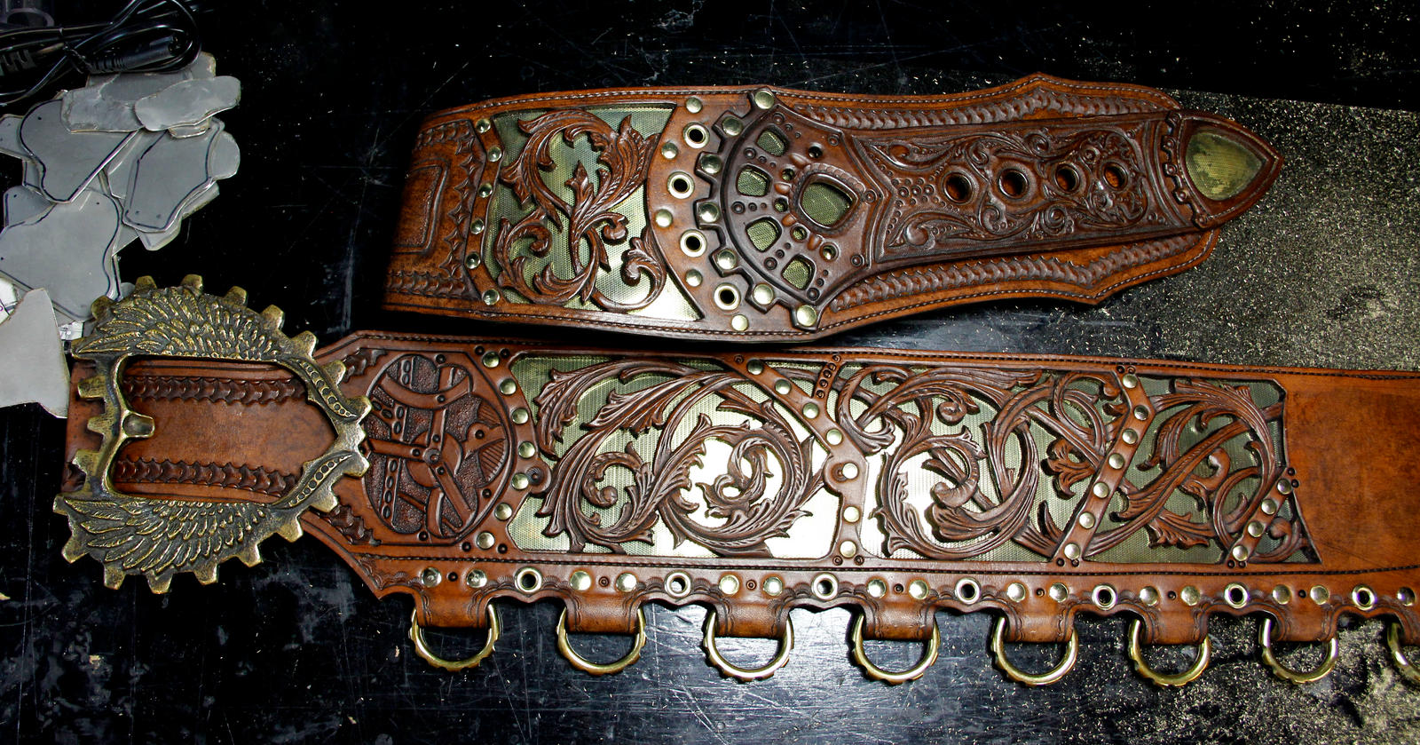 Elaborate Baldric WIP by Azmal