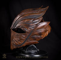 Elven Rogue Leather Helmet (2) by Azmal