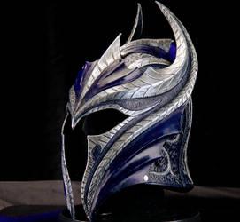 Sapphire Knight Leather Helmet