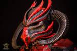 Demon Dragon Leather Helmet