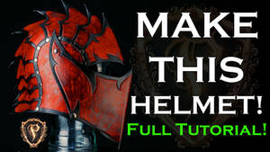 Fantasy Leather Helmet Full Tutorial How To/DIY