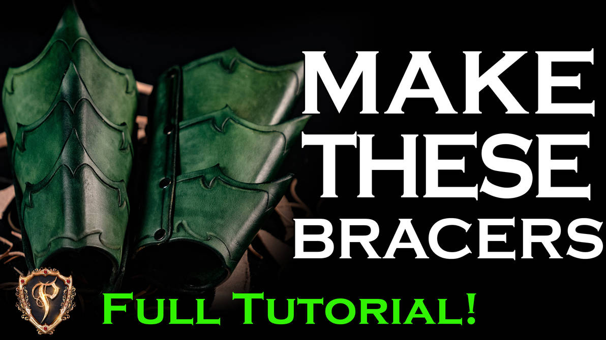 How To Fantasy Leather Bracers - Video Tutorial by Azmal