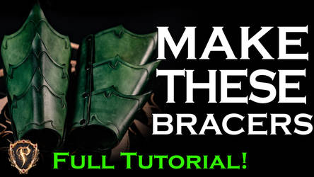 How To Fantasy Leather Bracers - Video Tutorial