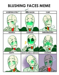 blushing faces meme (NT) by Bunnymuse
