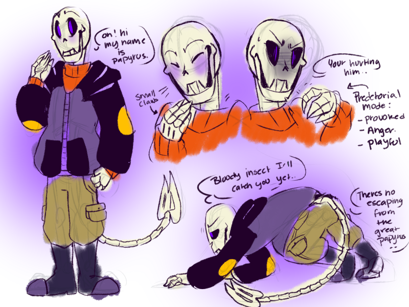 Newtale Papyrus Sketches Baby Bones By Bunnymuse On