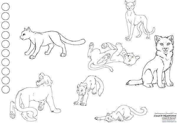 Cat Character Sheet - Template by StarVampiress13 on DeviantArt
