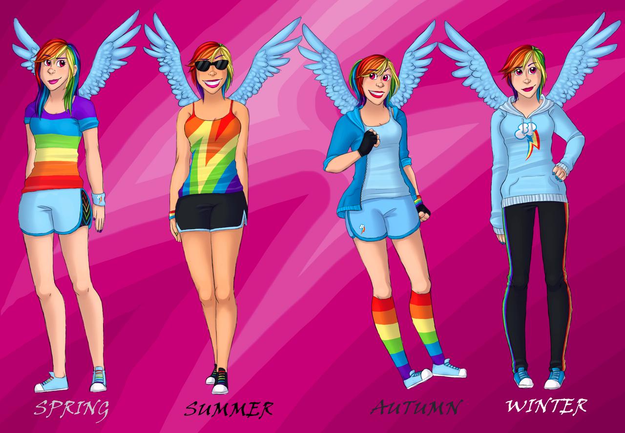 Rainbow Dash Fashion by StarVampiress13