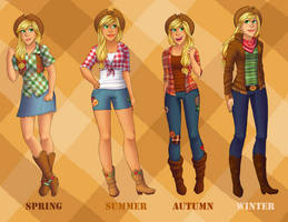 Applejack Fashion by StarVampiress13