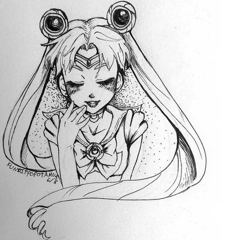 Sailor Moon by Fundippopotamus