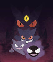 Gastly Gang by m-dugarchomp