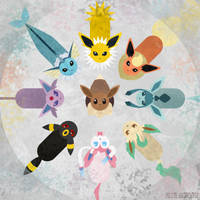 Eeveelutions by m-dugarchomp