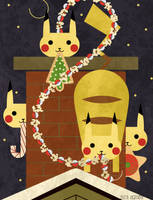 Christmas Pikachu by m-dugarchomp