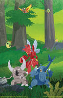 Warrior Insects by m-dugarchomp